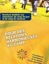 Brochure destinée aux animateurs de camp de jour