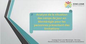 Couverture du document de l'analyse des camps de jour en Montérégie