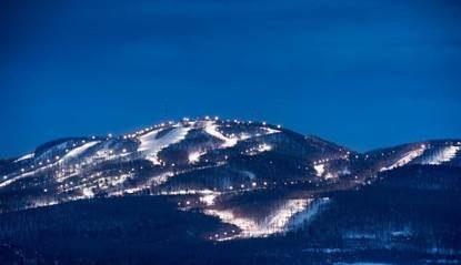 Image de la montagne Bromont en hiver